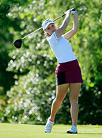 Maddie Szeryk, a junior-to-be at Texas A&M, looks like a favorite in the Women's Porter Cup after tying for 14th last year. (Getty Images)
