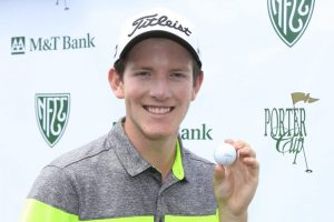 David Hanes made his first career hole-in-one during the third round of the Porter Cup at Niagara Falls Country Club. (Harry Scull Jr./Buffalo News)