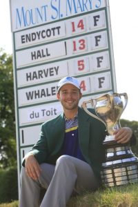 Harrison Endycott with the Porter Cup. (Harry Scull Jr./Buffalo News)